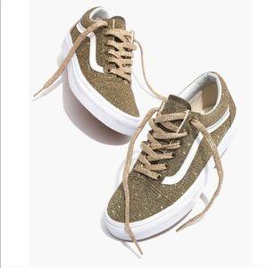 Madewell Vans Gold Glitter Old Skool Sneakers